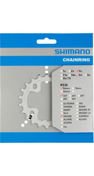 Shimano Deore FC-M510 - Plateau - 64 mm 22 Z argent
